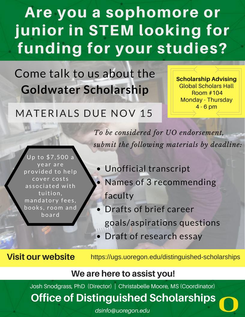Goldwater Scholarship 2018